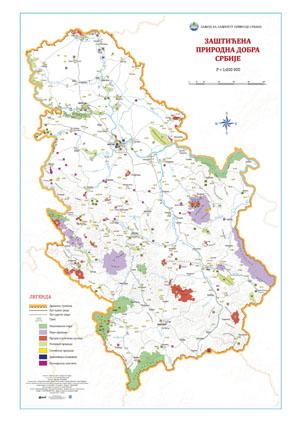 Zasticena prirodna dobra Srbije karta