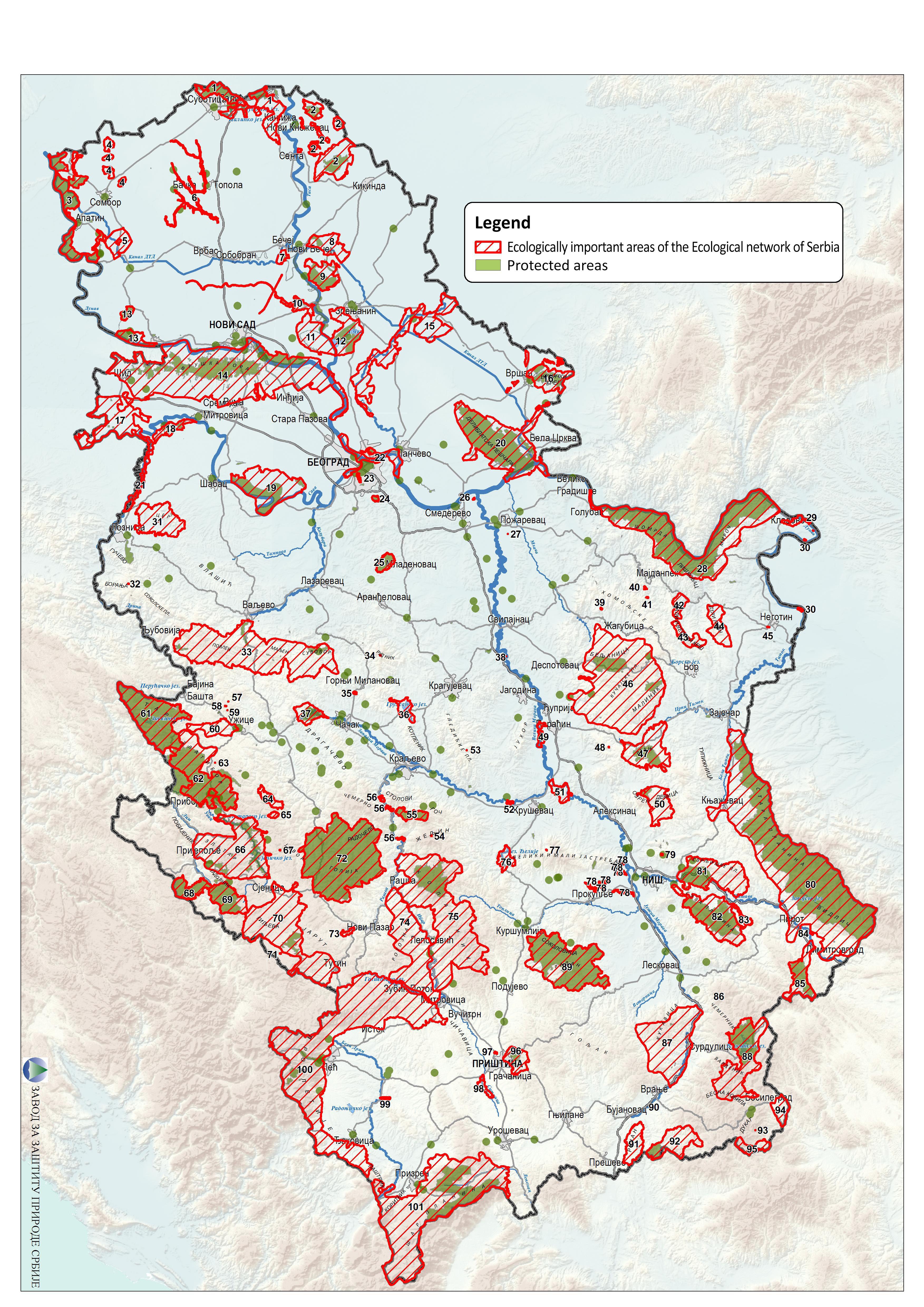 Karta Ekoloska Mreza